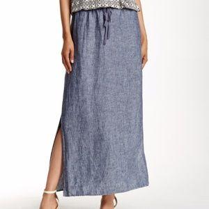 Max Studio Skirts - MAX STUDIO | Army Green Long Skirt Side Slits L